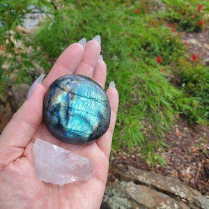 Other - Labradorite Blue Flash & Crystal Point Set 3